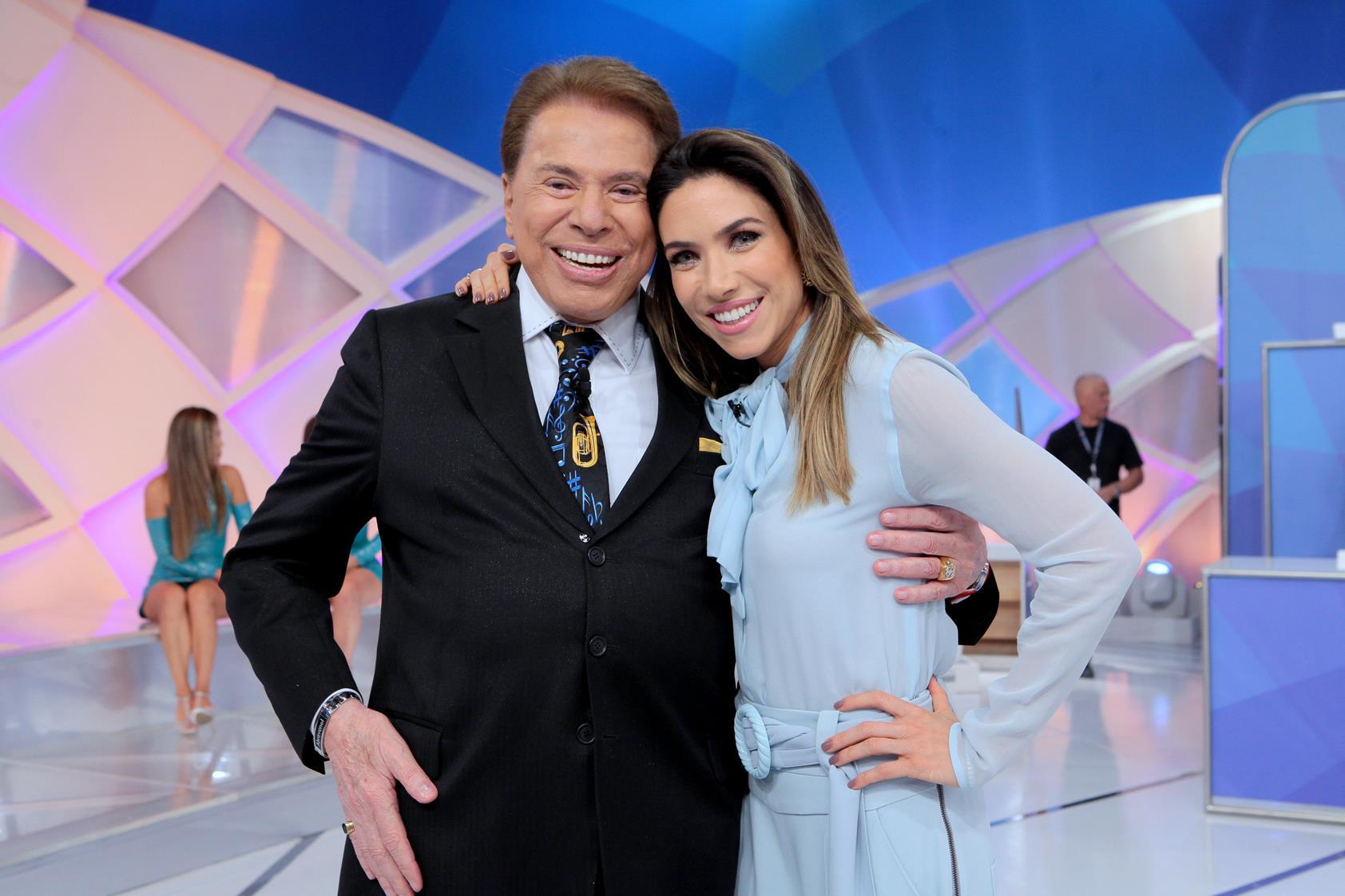Silvio Santos e Patrícia Abravanel