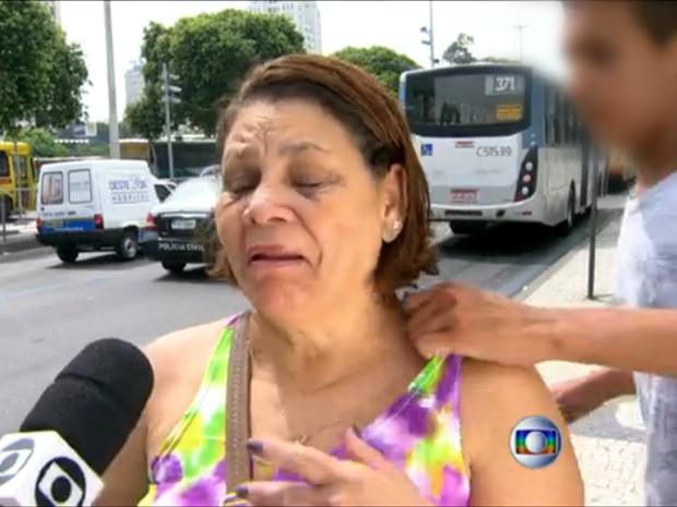 Mulher é assaltada durante reportagem