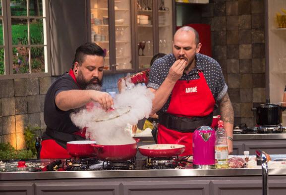 André e Adelino no Batalha dos Cozinheiros
