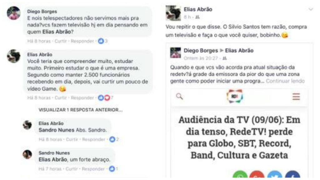 Elias Abrão trocou farpas com internauta sobre a Rede TV! (Reprodução/Facebook)