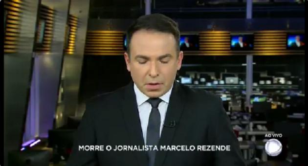 Reinaldo Gottino se emocionou ao informar morte de Marcelo Rezende (Reprodução)