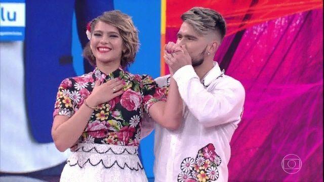 Isabella Santoni e Diego Maia na Dança dos Famosos