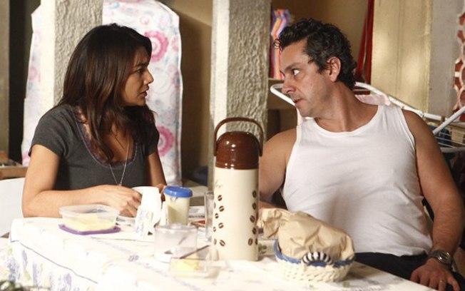 Celeste demorou para se livrar do companheiro Baltazar (Reprodução/TV Globo)