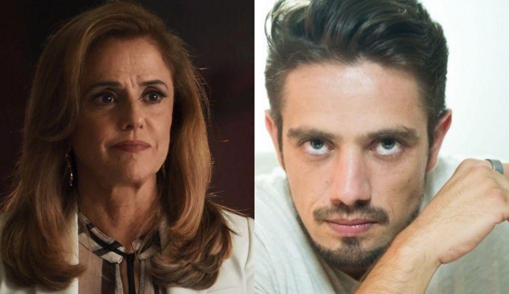 Sophia (Marieta Severo) e Renato (Rafael Cardoso) de O Outro Lado do Paraiso