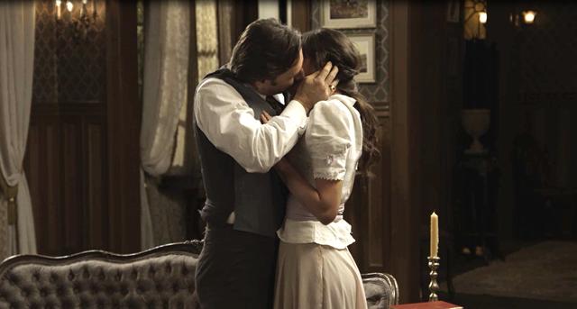 Jorge (Murilo Rosa) e Ema (Agatha Moreira) de Orgulho e Paixao