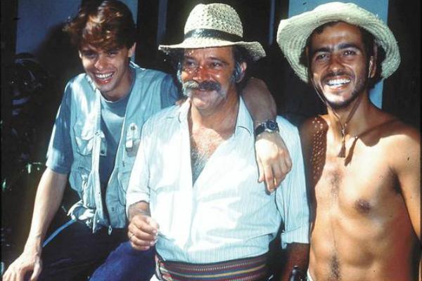 Marcos Winter, Cláudio Marzo e Marcos Palmeira em Pantanal (Divulgação)