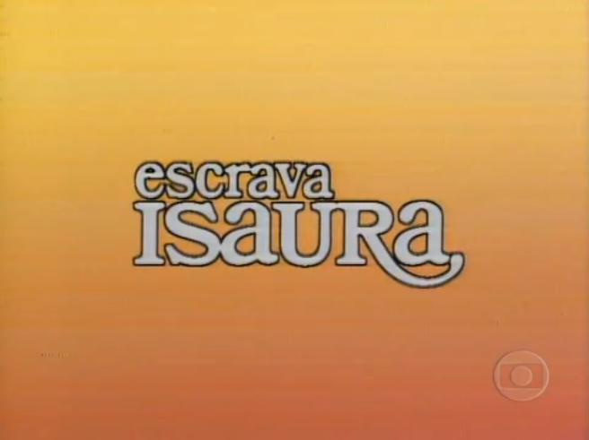 Logotipo da novela Escrava Isaura, de 1976 (Reprodução/Memória Globo)