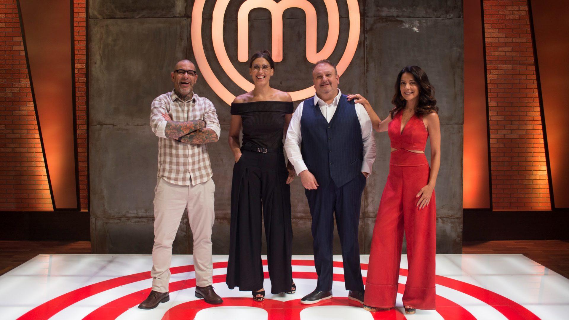 Jurados e apresentadores na divulgação da nova temporada do MasterChef Brasil