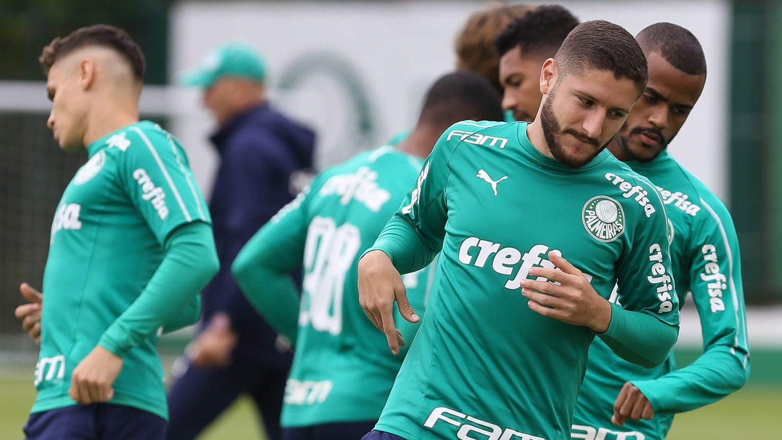 Treino do time do Palmeiras