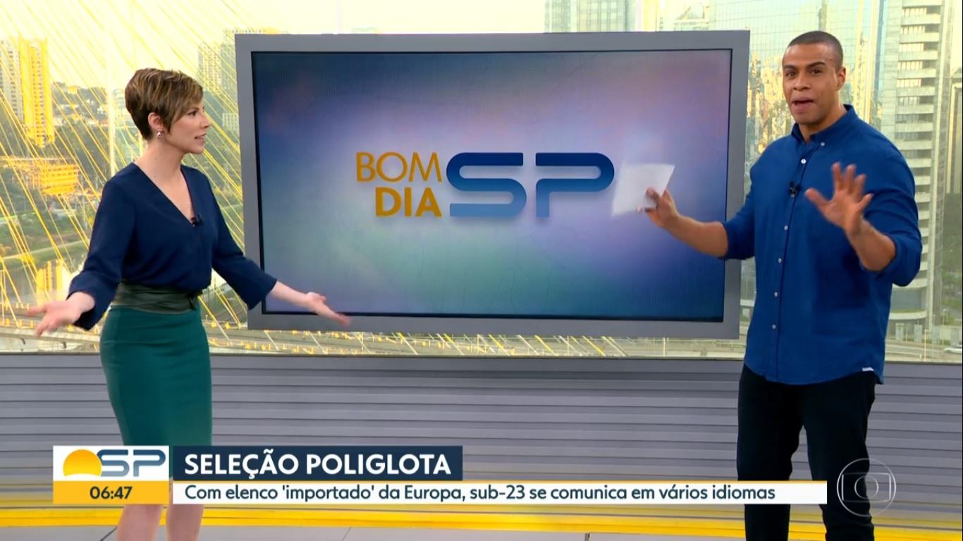 Gloria Vanique e Thiago Oliveira no Bom Dia SP