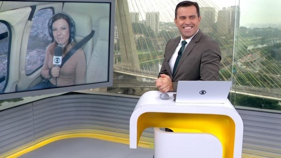 Zelda Mello e Rodrigo Bocardi no Bom Dia SP