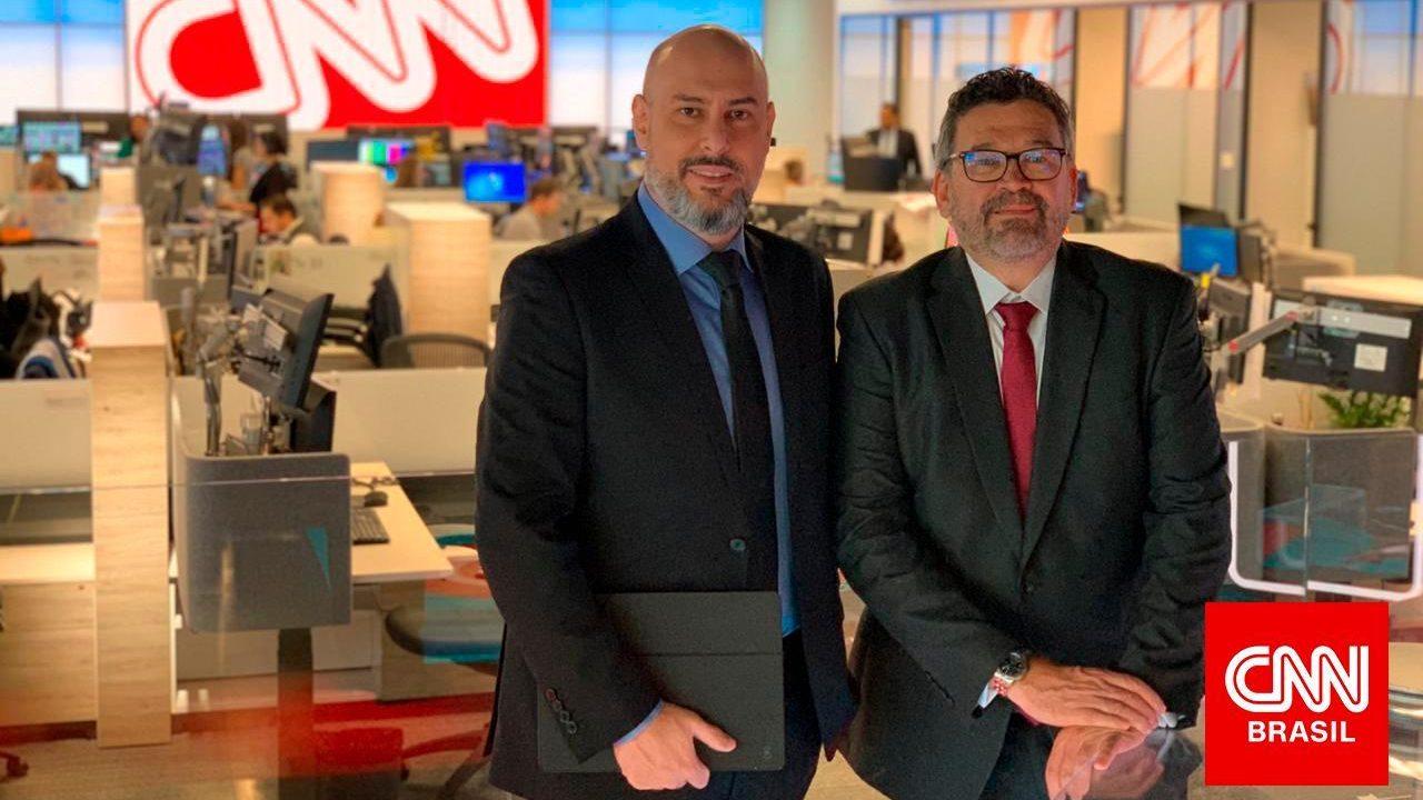 Douglas Tavolaro, fundador da CNN Brasil, e Américo Martins, vice-presidente de conteúdo internacional da CNN Brasil