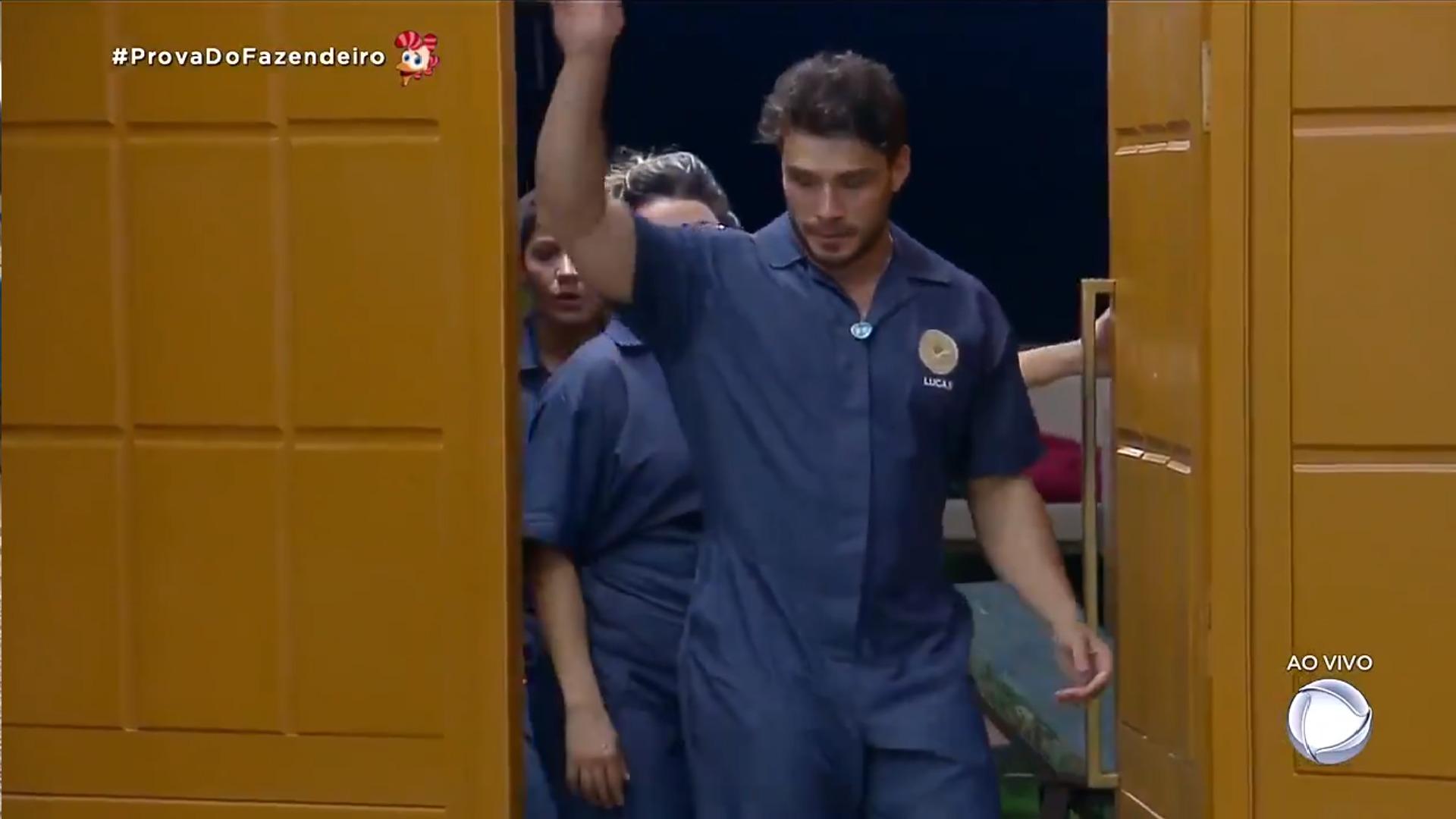 Lucas Viana, Thayse Teixeira e Harianny Almeida em A Fazenda 11