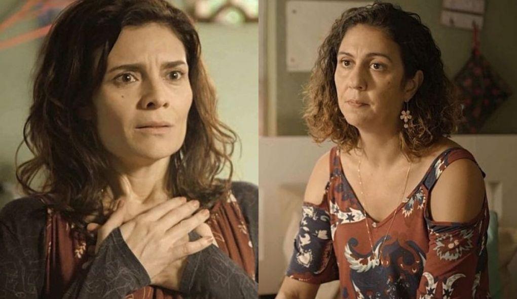 Leila (Arieta Corrêa) e Penha (Clarissa Pinheiro) de Amor de Mãe