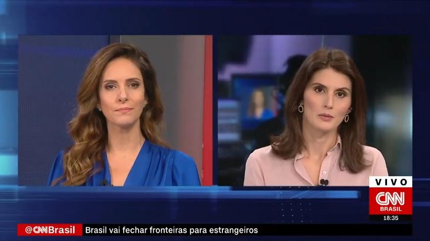 Monalisa Perrone e Carol Nogueira, no Expresso CNN
