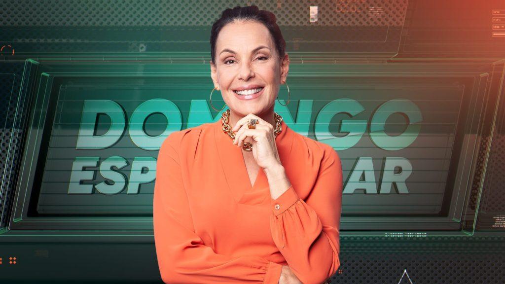 Carolina Ferraz em imagem de divulgação de sua estreia no Domingo Espetacular