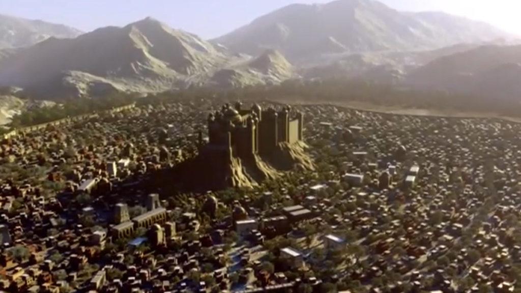 A cidade de Sodoma em Gênesis (Reprodução/Record TV)