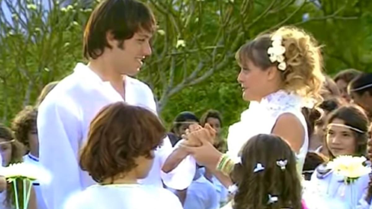 Casamento mágico marca romance de Fred e Maria Flor