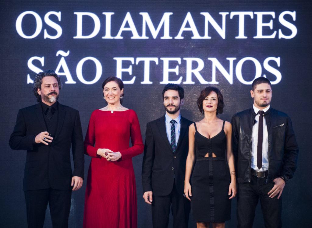 José Alfredo (Alexandre Nero), Maria Marta (Lilia Cabral), José Pedro (Caio Blat), Maria Clara (Andreia Horta) e João Lucas (Daniel Rocha) de Império (Divulgação/Globo)