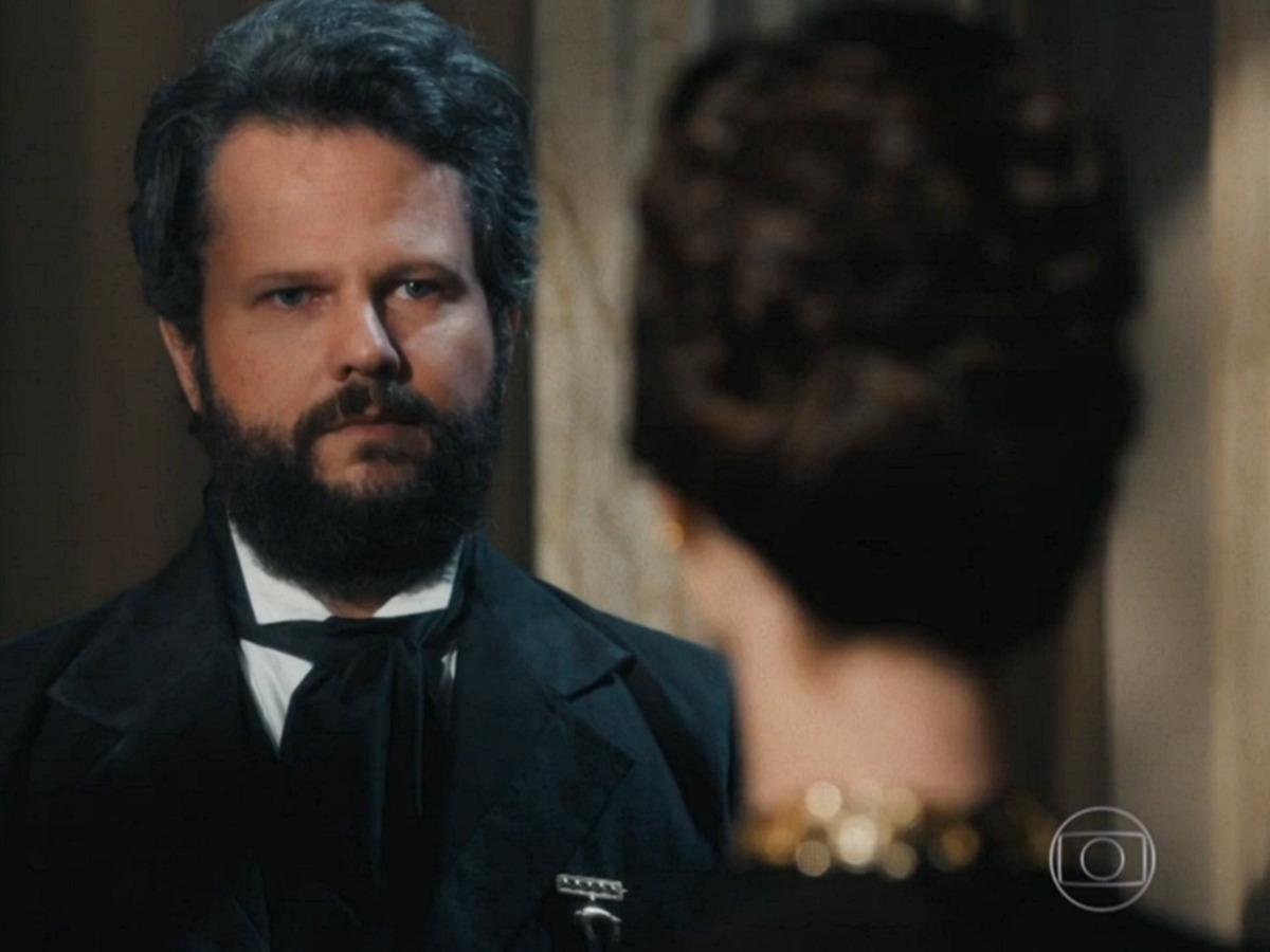 """Luísa revela segredo bombástico para Dom Pedro II: """"Pode ser devastador para a sua imagem"""""""